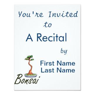 Bonsai text literati graphic invitation
