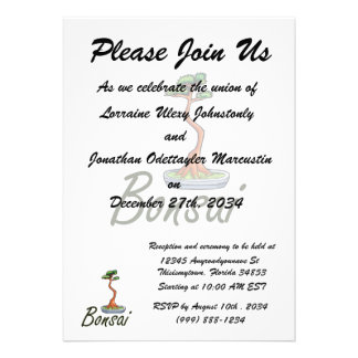 Bonsai text literati graphic custom announcements