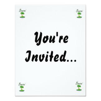 Bonsai text upright tree graphic custom invites
