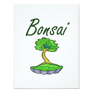 Bonsai text upright tree graphic personalized invitation