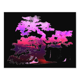 Bonsai Tree 11 Cm X 14 Cm Invitation Card