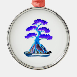 bonsai tree blue root over rock graphic.png Silver-Colored round decoration