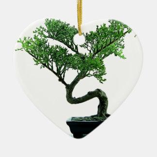 Bonsai Tree Ceramic Heart Decoration
