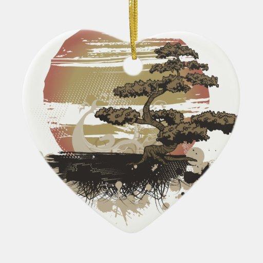Bonsai Tree Christmas Ornaments