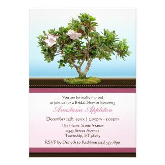 Bonsai Tree Flowers Bridal Shower Invitations