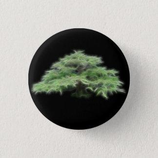 Bonsai Tree Green Plant 3 Cm Round Badge
