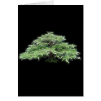 Bonsai Tree Green Plant Greeting Card