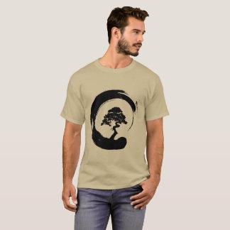 Bonsai Tree in Enso Circle T-Shirt
