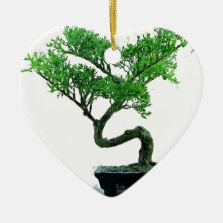 bonsai-tree Painting Ceramic Heart Decoration