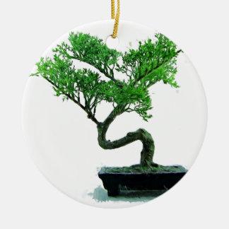 bonsai-tree Painting Round Ceramic Decoration