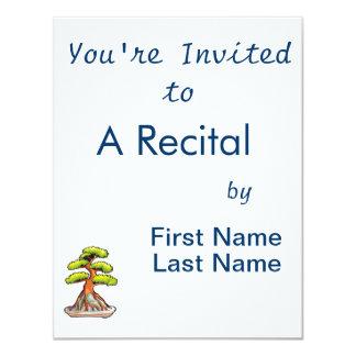 bonsai tree root over rock graphic 11 cm x 14 cm invitation card