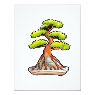 bonsai tree root over rock graphic custom announcements