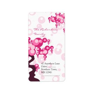 Bonsai Tree Stylish Wedding Address Label