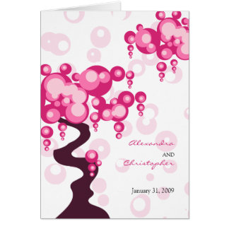 Bonsai Tree Stylish Wedding Invitation Greeting Card