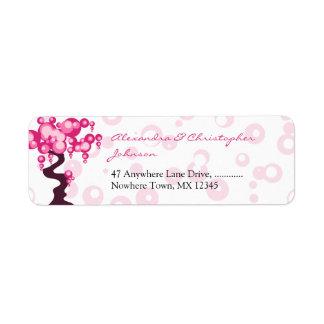 Bonsai Tree Stylish Wedding Return Address Label