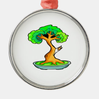 bonsai tree with shari graphic.png Silver-Colored round decoration