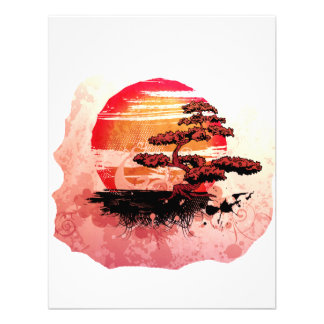 Bonsai Vintage Graphic Cool Red Version Personalized Announcement