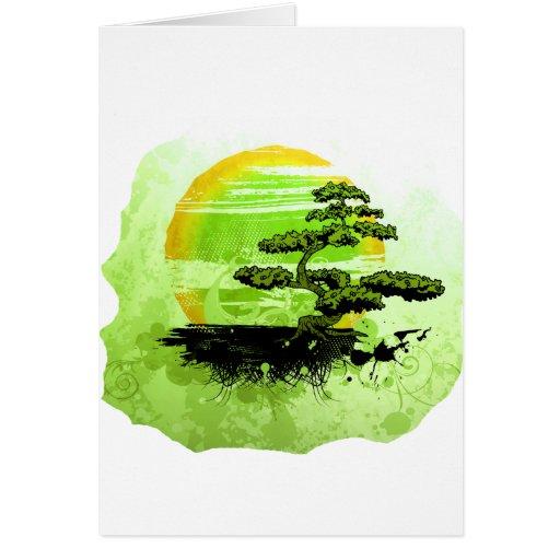Bonsai Vintage Graphic , Green Version Card
