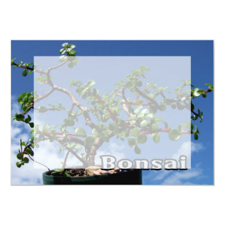 Bonsai w text photograph portulacaria afra tree 1. personalized announcements