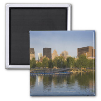 Bonsecours Basin In The Old Port Of Old Montreal Square Magnet