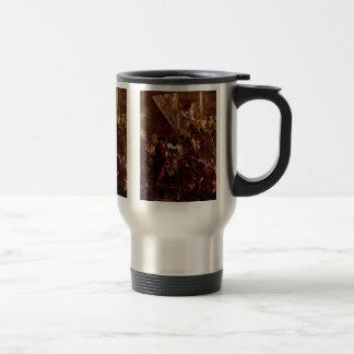 Bonsoir Messieurs By Menzel Adolph Von Coffee Mug