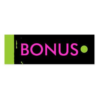 """BONUS"" Hang Tag Business Card Template"