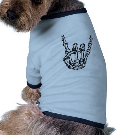 Bony Rock Hand Dog T Shirt