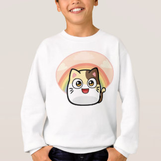 Boo as Cat Design Products Sweatshirt