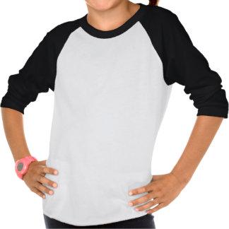 Boo as Panda Girls 3/4 Sleeve Raglan T-Shirt