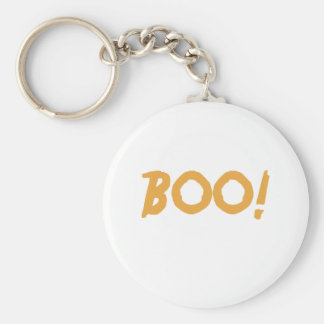 Boo! Basic Round Button Key Ring
