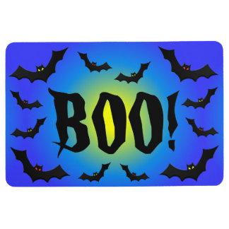 BOO! Bats on Blue Floor Mat