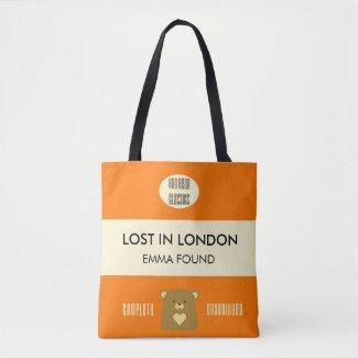 Boo Bear Book Cover - Pumpkin Orange