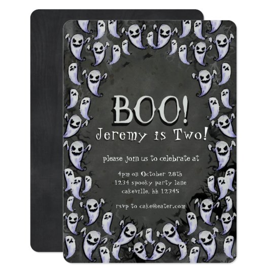 Boo Birthday Party invitation