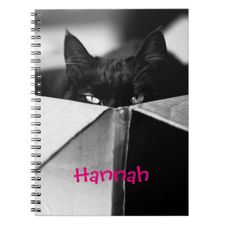Boo Boo Black Kitty Notebook