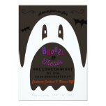 Boo Booze & Treats Ghost Halloween Party Invite