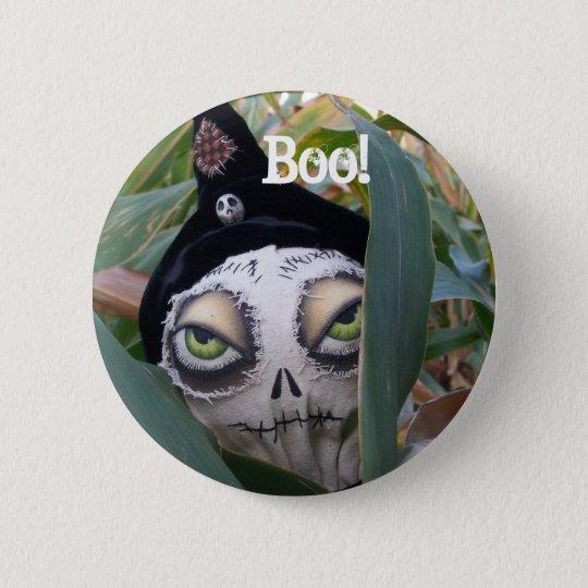 Boo! Cobby the Cornfield Creeper Button