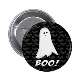Boo, Cute Ghost Black and White 6 Cm Round Badge