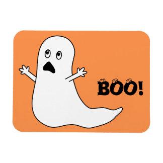 Boo! Cute Scared Ghost Cartoon Rectangle Magnet