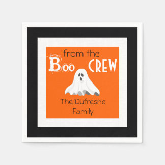 """""""Boo From The Crew"""" Personalised Halloween Disposable Napkin"""