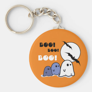 Boo! Funny Little Ghosts Halloween Gift Keychains