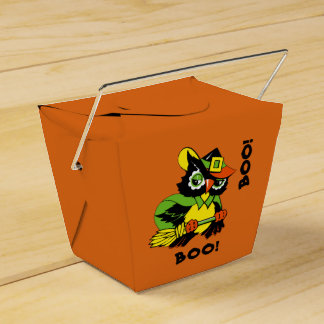 Boo. Funny Owl HalloweenTreat Boxes