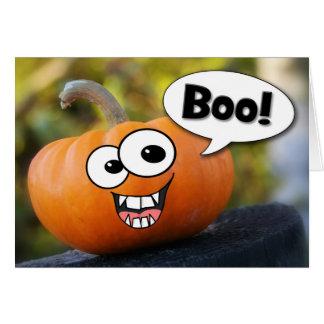 Boo! Funny Pumpkin Halloween Card
