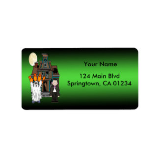 Boo Ghost Dracula Halloween Address Labels