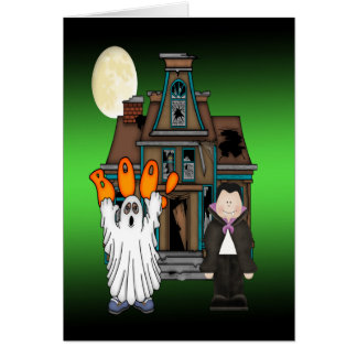 Boo Ghost Dracula Halloween Greeting Cards