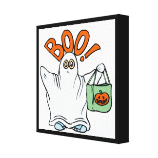 BOO ! GHOST GALLERY WRAPPED CANVAS