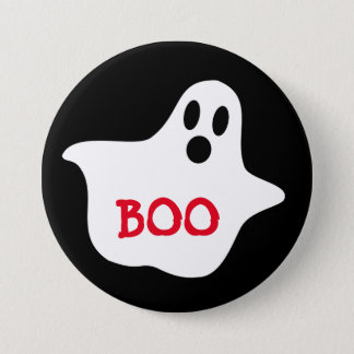 "Boo Ghost Large 3"" Inch Round Button"