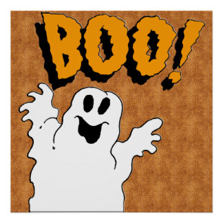 Boo Ghost Poster