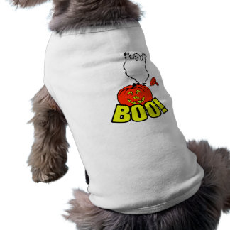 BOO Ghost & Pumpkin Sleeveless Dog Shirt
