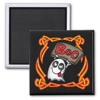 Boo Ghost Round Magnet