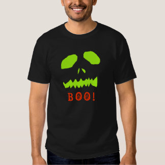 Boo! Ghoul Face on Black T-Shirt